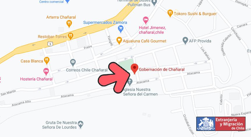 mapa chanaral