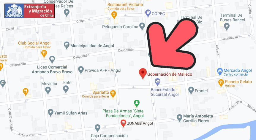 map malleco