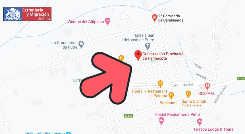 mapa parinacota