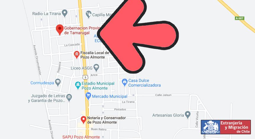 mapa tamarugal